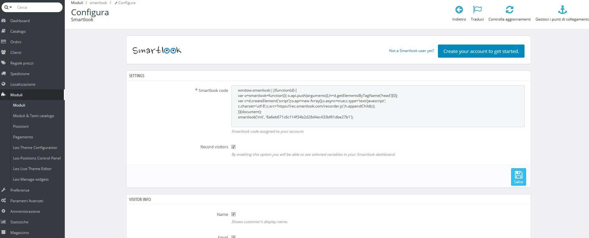 script-monitoraggio-smartlook-per-prestashop